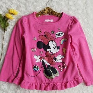 Minnie Mouse long sleeve tee 💕